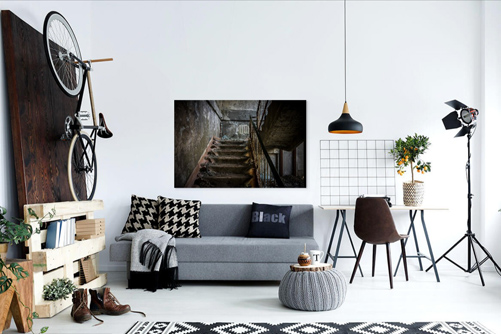 The Pixel Corner Unieke wanddecoraties Let's take the stairs